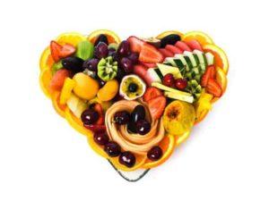 מגש פירות לב